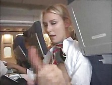 Stewardess Giving Customer A Blowjob And Handy