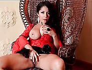 Glamorous Milf Goddess In Red Lipstick