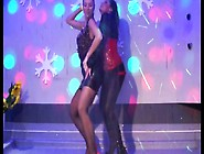 Two Nasty Drunk Whores Are Dancing In The Club