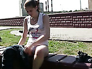 Fit Hottie Alex Jogs In The Park And Pees Her Pants