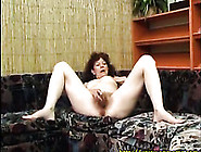 Slutty Mature Woman Fucks Her Hairy Pussy With Her Dildo