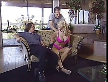 Huge Tit Milf Takes On Two Guys