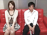 Japanese Mature And Young Man Watch Porn Movie