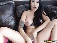 Tattooed Busty Babe Masturbates On Cam