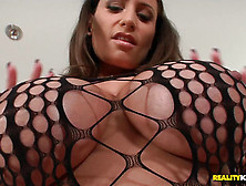 Great Boobied Sensual Jane Gets Drilled In Fishnet