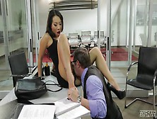 Asian Beauty, Asa Akira,  Gets Hard Fucked By Boss For A Raise