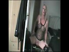 Sexy Blonde Toys Herself At Home