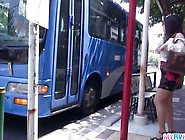 Public Japan Blow Job On A Bus