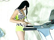 Muriel Takes A Slow Walk On Her Treadmill Wearing Her Sexy Panty