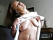 I Ride A Dildo And Expose My Beautiful Natural Boobs