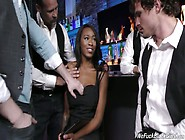 Crazy Black Bitch Nadia Jay Is Fucked Hard By Several White Stud