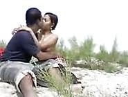 Naughty Indian Couple Fuck Outdoor In The Sand