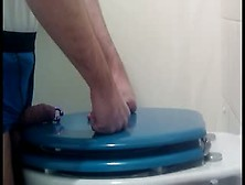 Self Busting With Toliet Seat And Cuming