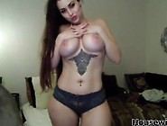 Australian Angelic Brunette Vikkiheat With Big Tits And Wide Hip