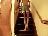 Adidas Satin Nylon Shorts And Undressed Hotel Walk