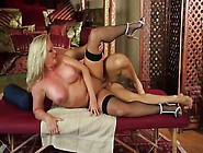 Busty Blonde Milf Maya Devine Takes A Heavy Pounding On The Mass