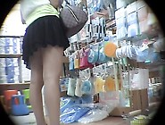Long-Legged Careless Beauty Gets Her Upskirt Revealed While Bein