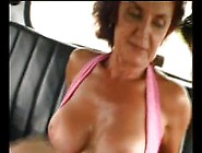 Sexy Mom 62 Redhead Mature In A Car With A Young Man