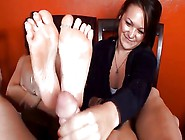 Mother And Not Her Step Daughter Footjob
