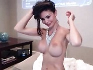 Hot Brunette Teen Big-Tits On Webcam