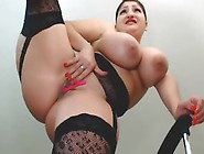 Curvy Babe Masturbates With Toys And Squirts