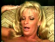 Horny Blonde Milf On Sofa Gets Her Pussy Licked By Young Black G