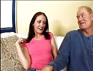 Brunette Wife Loves To Suck And Fuck Older Man's Cock