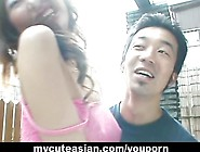 Amateur Asian Gf Strips In Public Before A Backyard Blowjob