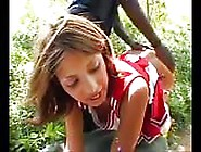 Latin Cheerleader Fucked In The Woods