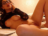 Italian Babe Takes Her Time Fingering Her Pretty Pink Pussy Hole