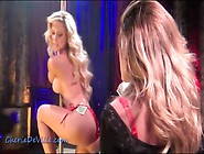 Sexy Stripper In Shiny Red Bikini Dances For Lesbian
