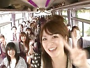 Moronic Asian Girls Have Hot Bus Tour