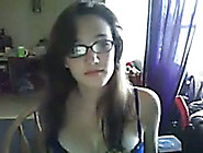 Cute Nerdy White Teen With Glasses Has Gorgeous Body