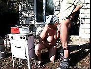 Fat European Granny Gets Her Ancient Cunt Plowed By A Young Farm