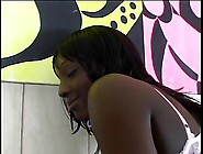 Horny Black Slut Rubs Her Tight Wet Pussy And Gets Fucked