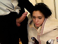 This School Girl Is Helplessly Bound And At Her Master's Will