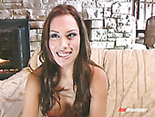 Topless Jennifer Luv Is Interviewed After Pussy Fingering