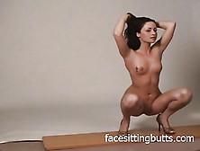 Naked Brunette Babe Posing For The Camera