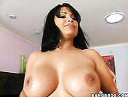 Black Haired Bbw Sexpot Sophia Lomeli Works With Her Mouth And F