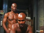Two Muscular Black Guys Fuck