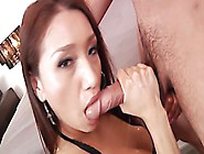Fiery Asian Bitch Erotically Sucking Cock And Deep Throating