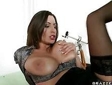 Busty Brunette Sensual Jane Screwed By Her Boss