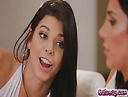 Hot Ladies,  Gina And Jaclyn Invited One More Lesbian To Join The