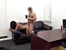 Fantastic Cock Slurping Ebony Chokes On A Dick