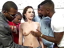 Steamy Nikita Bellucci Gets Gangbanged By Black Guys