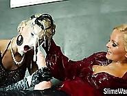 Messy Strapon Fake Cum Lesbians
