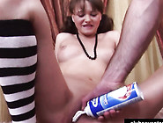 Pigtailed Teen Pussy Needs Some Cream Before Getting Fucked