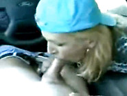 Mom Gives Son Bj In Car,  Swallows Cum