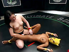 Smoking Hot Yellow Kitty Vs.  Super Petite Chyna White
