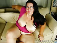 Beautiful Big Tits Bbw Brunette Loves The Taste Of Cum